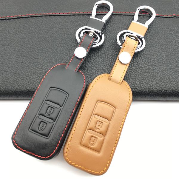 Unisex Geflochten Leder Schlüsselanhänger Auto Schlüsselring Schlüsselband Neu