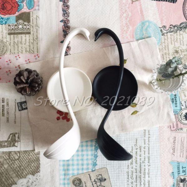 Swan shaped ceramic spoon,white swan spoon,Chinese ceramic spoon,Unique design !