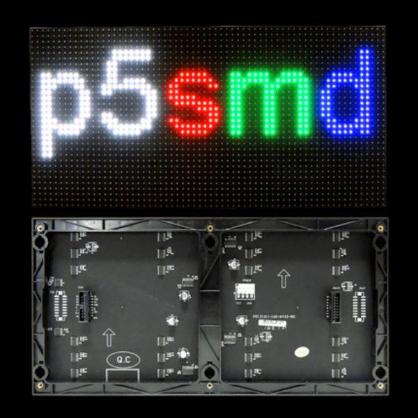 Affichage à LED polychrome d'intérieur de la livraison gratuite P5 p5 a mené le module d'écran 320 * 160mm pour la publicité LED