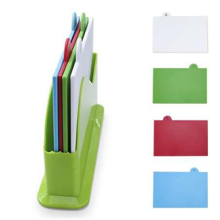 Colour Coded Kitchen Cutting Board Chopping Board Blocks Separately Cutting Board 4pcs/set Kitchen Utensils Cutting Block