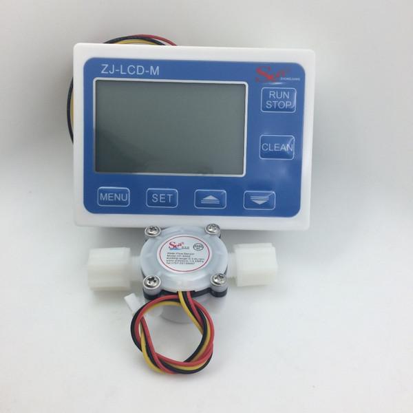 Flow meter water gauge flowmeter caudalimetro counter flow indicator sensor flow sensor with LCD meters 3-24V 0.3-6L/min