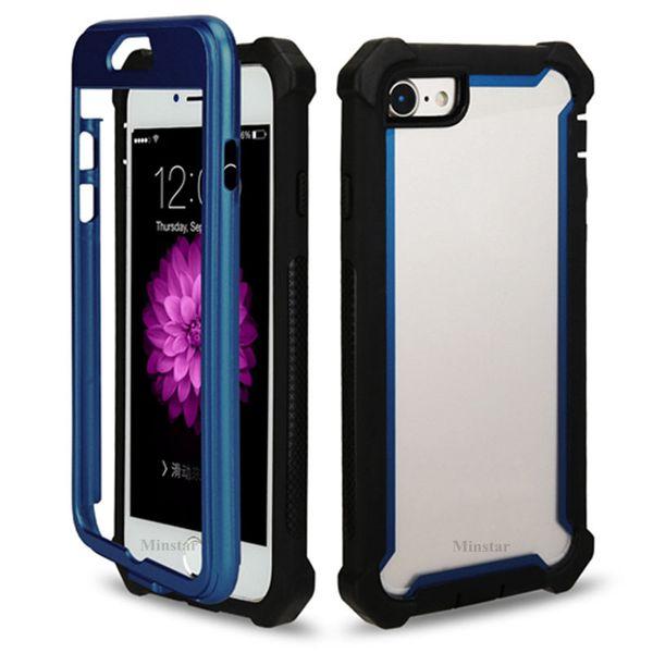 Pour Samsung S10 5G S10e S9 Plus Note 9 iPhone X XS Max XR 8 7 6S TPU Acrylique Clair Defender Hybrid Case