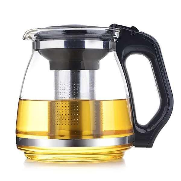 Hitzebeständiges Glas Teekanne transparent und dick Tee Set Hotel Wasserkocher Filter Tee Maker Haushalt