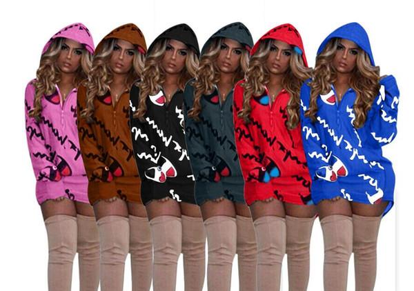 Moda Donna sportiva Pullover Causal Dress Popolare Champions Felpa con cappuccio Collo alto Donna manica lunga maglione Abbigliamento Taglia S-XL