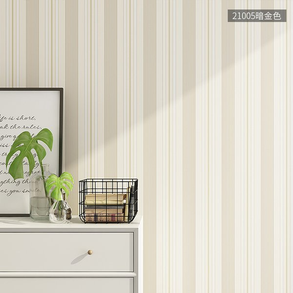 Striped Wallpaper Simple Nordic Non Woven Bedroom Living Room Tv Background Wall Decorated Wallpaper Modern Plain Quality Wallpapers High Resolution