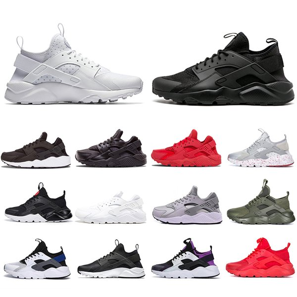 US5.5-11 Air Huarache 4.0 1.0 Ultra Reflect Running Athletic Shoes Black White Red Green Women Mens Trainers Outdoor Sports Sneaker