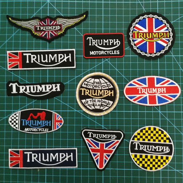 Triumph Motor jacket shoes t-shirt jeans bag Iron//Sew on Embroidered Patches