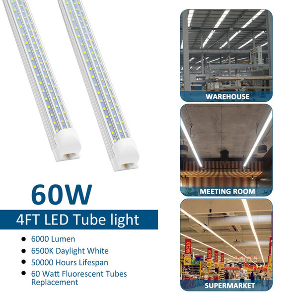 4FT 60W couvercle transparent