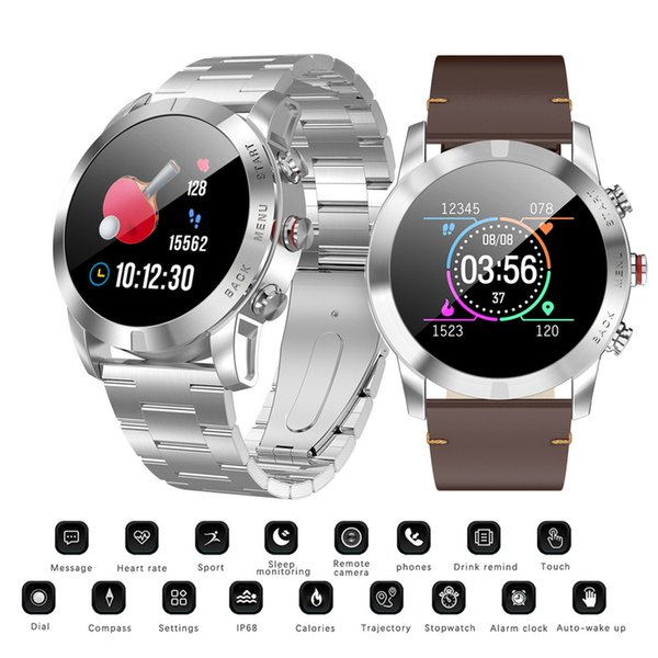 New Smart Watch IP68 Waterproof Bluetooth 4.2 Smartwatch Health Sport Monitoring Compass Sport Watches Women Men For Android IOS