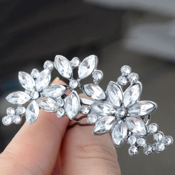 NEW Hair Clips Women's Bride's Bridesmaid's Rhinestone Flower Crystal Hair Clip Comb G0315