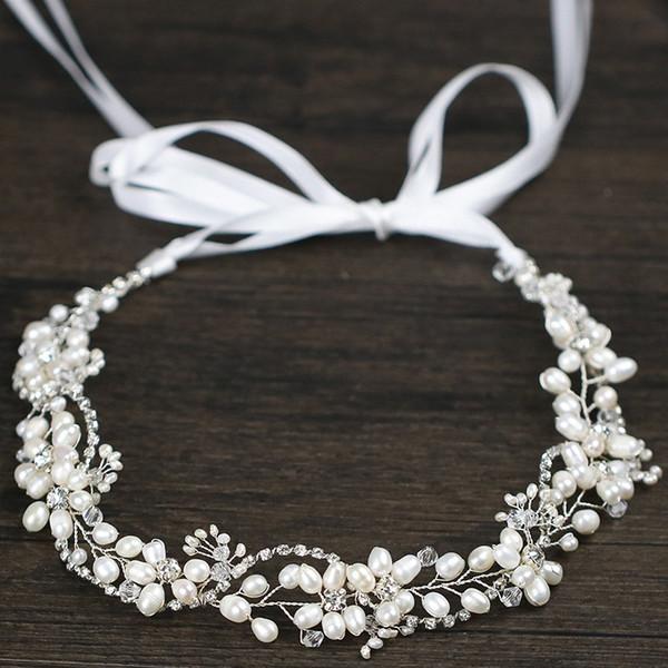 El yapımı şık Kristal yaprakları Kristal Gelin Düğün Baş Piece Gelin Şapkalar Hairband El Yapımı Parti Elbise Takı Hediye