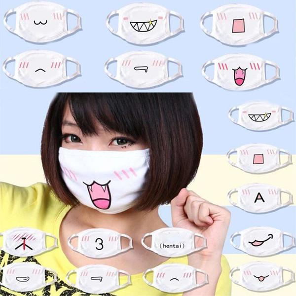 Kişilik Emoji Maskeleri Anti-Toz Pamuklu Bez Komik Desen Masquerade Cosplay Kostüm Unisex Adam Kadın Parti Maskeleri 12 stil WX9-1360