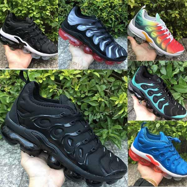 Tn Causal Shoes Women Mens PURE PLATINUM Triple black white cool wolf grey Chaussures tns Schuh Brand New Arrival