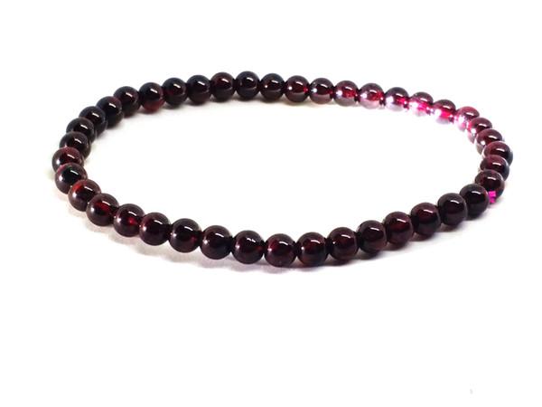 100% natürliche Weinrot Granat Frauen Beste Geschenk Perlen Gliederkette Armband 6 MM
