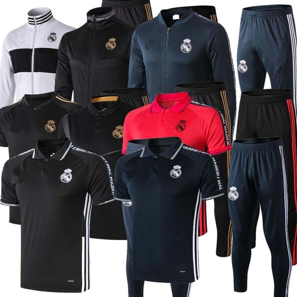 18 19 20 trainingsanzug Marseille Paris trainingsanzug Real Madrid trainingsanzüge 2019 2020 MBAPPE LUCAS HAZARD trikot de foot jacket kit