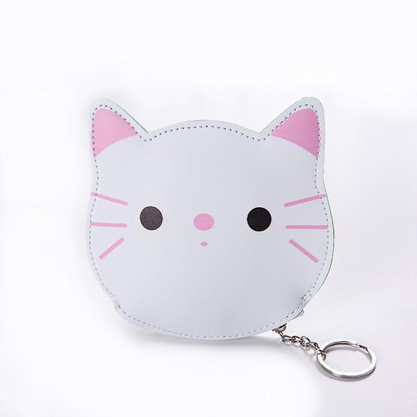 Cute mini bag girl casual fashion snacks coin purse cosmetic bag key pocket size zipper packet cartoon cat lady wallet Billetera