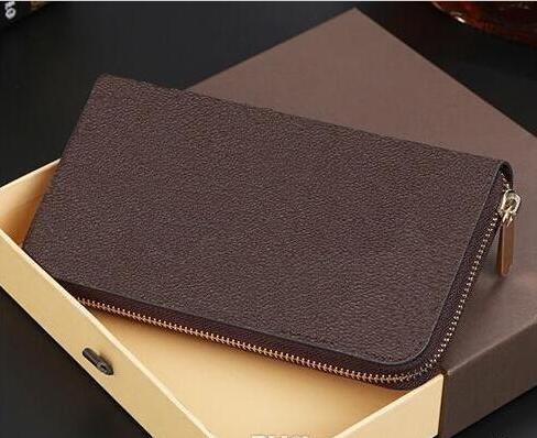AAA + Leder Herren und Damen Marke Designer Brieftaschen Geldbörse Kartenhalter klassische Reißverschlusstasche Handtaschen 2019 Patentierte Leder Lan Coce L Bag