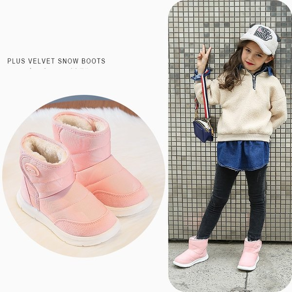 children snow boots kids shoes desinger girls and boys shoes sport winter warm boots for children