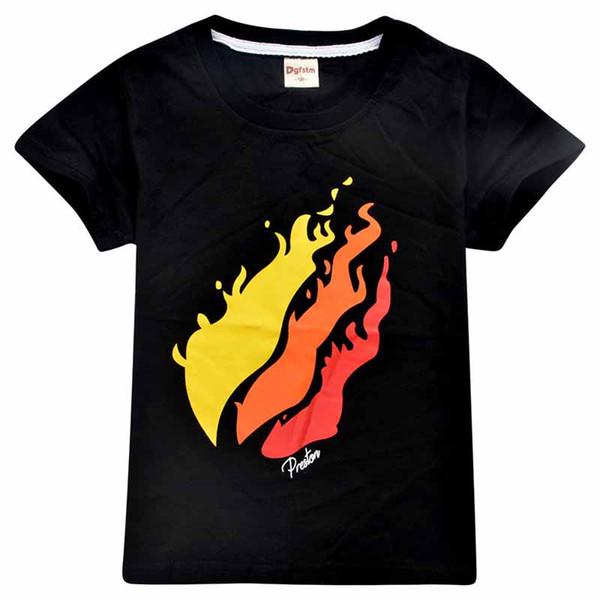 top popular Short sleeve Tshirt Cotton 2019 Spring Sweatshirt for Boys Girls Round collar T-shirt Hot Game Top Tees Kids Clothing C22 2020