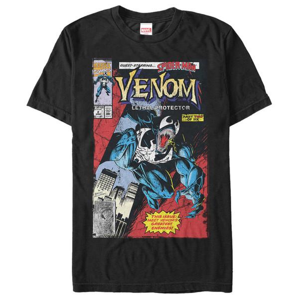 Marvel Venom Lethal Protector Mens Graphic T Shirt Black Tee M 234XL XXL F173 Cool Casual pride t shirt men