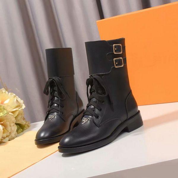 Новый 2019 дизайнер женщин черные плоские ботильоны марка дамы без ремня короткие сапоги осень-зима обувь 35-42 плюс размер