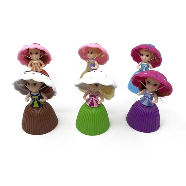 1 Pc Mini Bonito Bolo Boneca de Brinquedo Surpresa Cupcake Princesa Boneca Brinquedos para Crianças Kid Transformed Scented Meninas Presente Do Jogo Engraçado