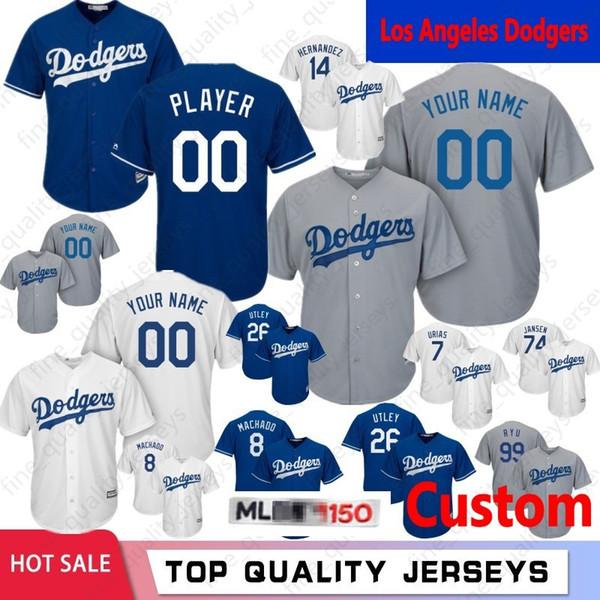 size 40 59952 d9a33 2019 26 Chase Utley Custom Mens Los Angeles Jerseys 150th Dodgers 74 Kenley  Jansen 14 Enrique Hernandez 99 Hyun Jin Ryu 8 Manny Machado Baseball From  ...