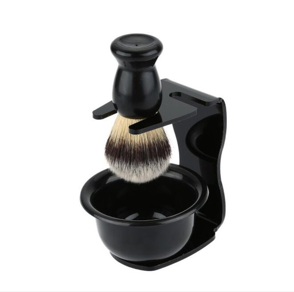 Cepillo de afeitar Conjunto de cepillos cepillos Soportes anti-herrumbre Barba Cepillo Soporte para salón Hogar Viaje Uso Hombre Cepillo de jabón de afeitar LJJK1612