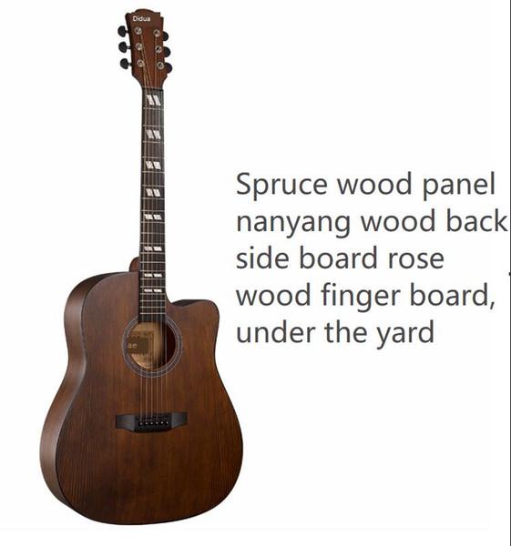 En Çok Satanlar Yeni 41 inç halk akustik gitar ladin Nanyang ahşap eksik köşe gitar ovmak renk orta sınıf gitar toptan