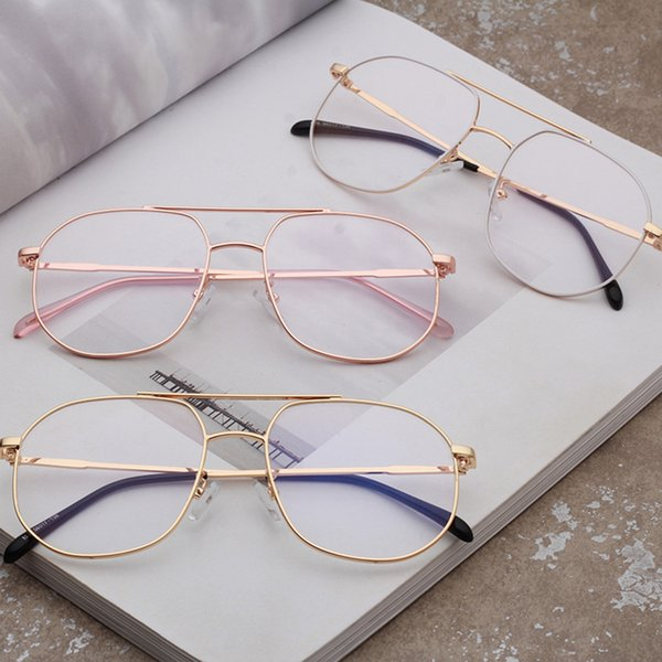 Popular Ins Stylish Eyeglasses Frames Fashion Optical Frames Women Men Retro Metal Eyewear Frame Reading Glasses 1896OLO