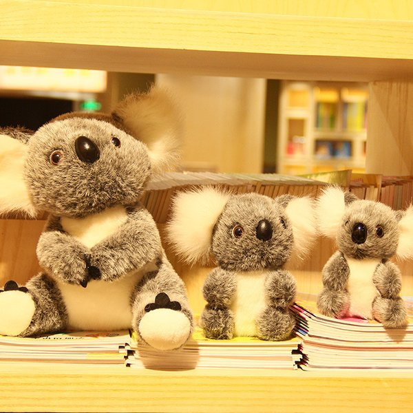 Stuffed animal cartoon plush toy koala doll 16CM new cute test bear pull girl birthday Christmas gift plush animal cartoon WJ092