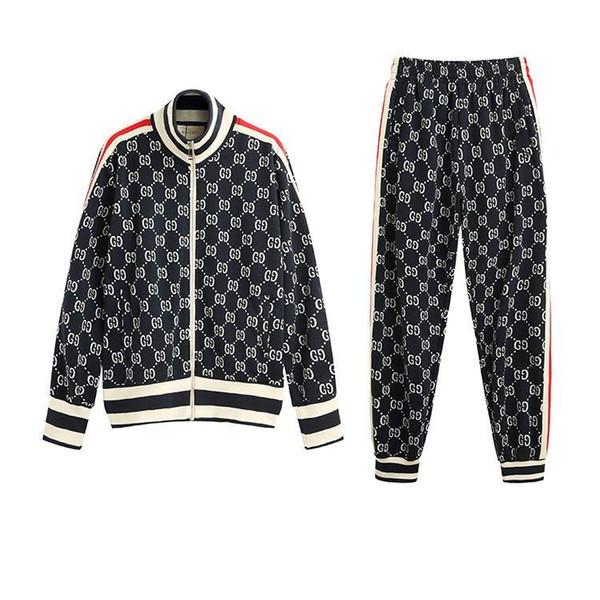 Italie Designers Veste en coton jacquard jersey imprimé Hoodies Veste ZIP-UP Manteau Hommes Femmes Sweat-shirts Pantalon homme Pantalon FCK09