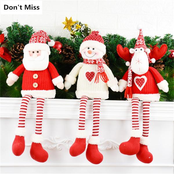 Christmas Tree Decoration Sitting Christmas Doll Merry Gift Lovely Figurine Natal Decoracion Xmas Decor Ornaments