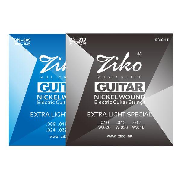 Corde per chitarra elettrica serie ZIKO DN Extra Light 009-042 E 010-046 Inch Nickel Wound Hexangon Alloy Core