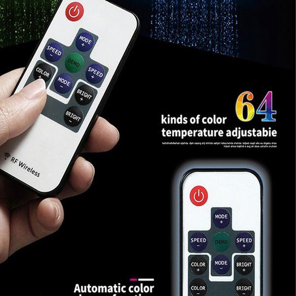 mudança de controle remoto a cores