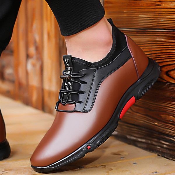 New Casual Comfort Men'S Height Increase Shoes Hidden Lift Insole Taller 6cm8cm For Young Man Purple Shoes Scholl Shoes From Annawawa, $104.82|