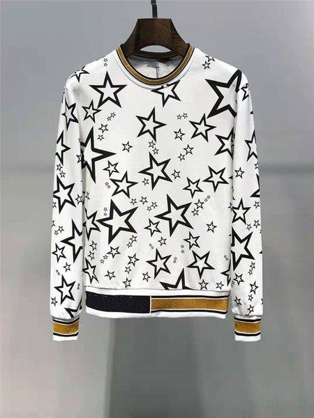 Мужская Дизайнерская Толстовка С Капюшоном Star Pattern Печати Мода Стиль Для Женщин Бренд Толстовка С Капюшоном Свободная Толстовка Роскошные Топы С Капюшоном Азиатский Размер