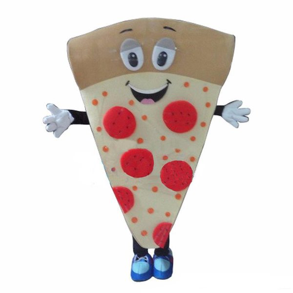 2019 Factory Outlets PIZZA mascot costume for adults christmas Halloween Outfit Fancy Dress Suit Free Shipping