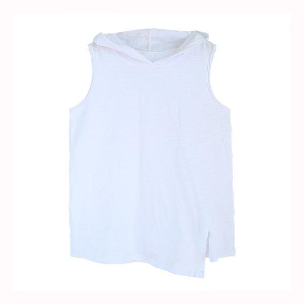 T-shirt senza maniche da donna per uomo T-shirt senza maniche per uomo T-shirt casual allentata per l'estate T111