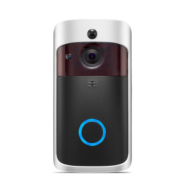 Timbre de la cámara inteligente con tarjeta de 16GB TF IP WI-FI Teléfono de la puerta Timbre de la puerta para apartamentos IR Alarma Cámara de seguridad inalámbrica (Tarjeta de memoria)