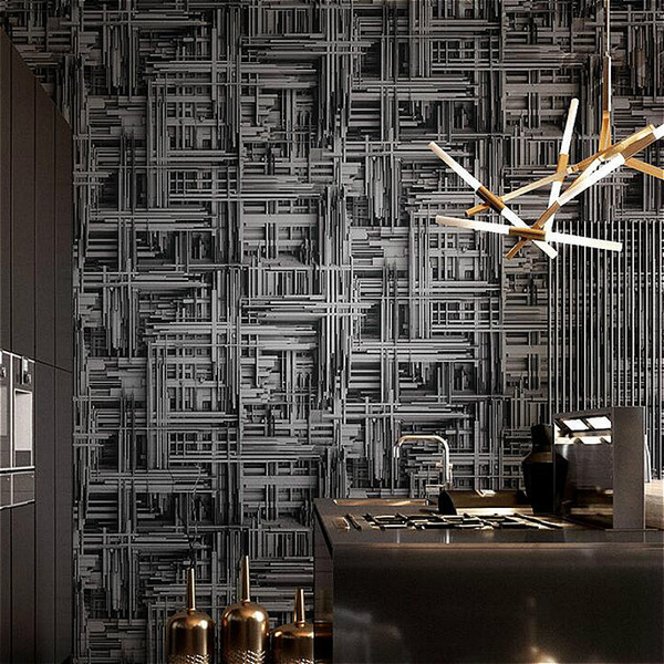 Black Silverwhite Metallic Abstract 3d Stereoscopic Wallpaper Modern Geometric Vinyl Wall Paper Living Room Bedroom Background Wallpapert Wide