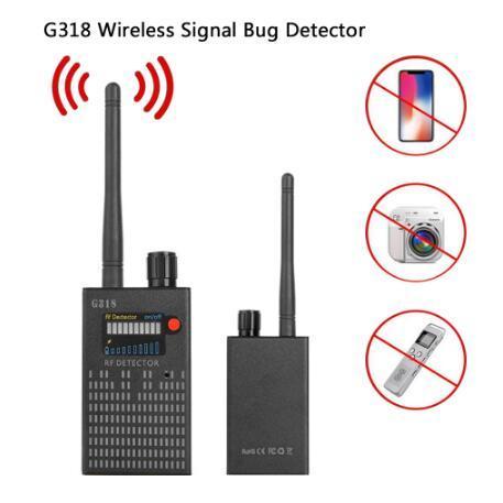 Good G318 handheld detector Wireless RF signal detector CDMA signal Detector high sensitivity detect Camera lens/ GPS locator Device Finder