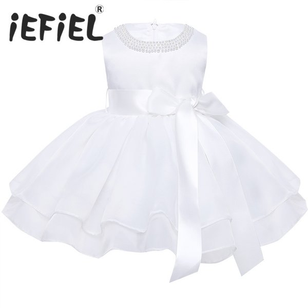 c6b946fd9 Vestido de boda de las niñas del bebé de la flor para los niños Vestidos del