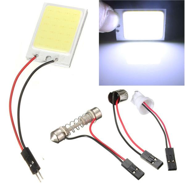Lampada da pannello a LED COB di alta qualità Lampada da lettura per auto super bianca Lampada per cupola automatica Lampadina interna con adattatore T10 Festoon Base 12V DC