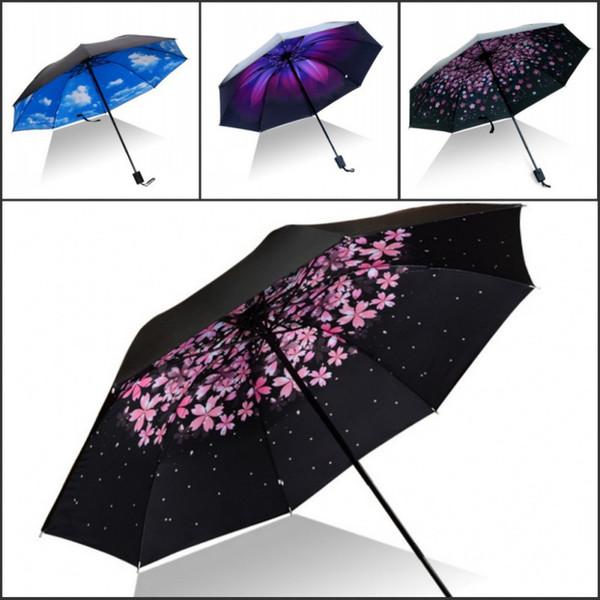 Donne Uomini soleggiato e piovoso Umberlla invertito Cowgirl dom Pioggia Car Ombrello antivento Grande Viaggio UV Ombrelli