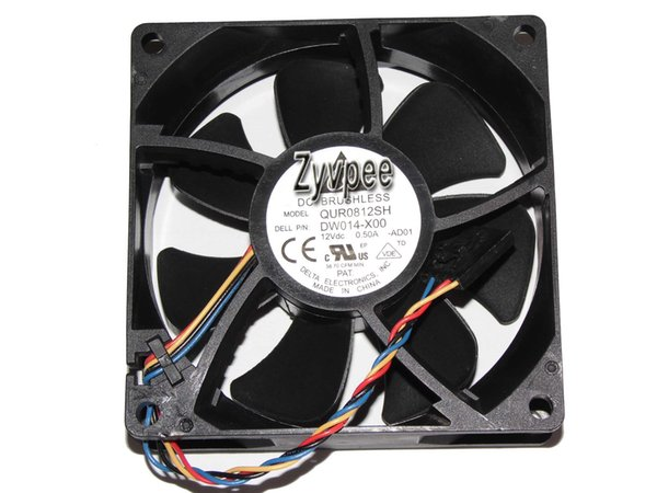 Delta 80x25mm QUR0812SH AD01 12V 0.5A 4 Wires PWM 4 Pins Case Fan Server Cooler For Dell PN:DW014
