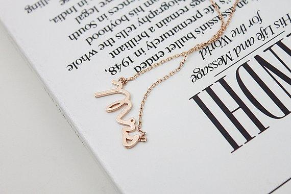 English alphabet initials MRS madam Mrs Necklace Small Stamped Word Initial Necklace Tiny Love Alphabet Letter Necklaces