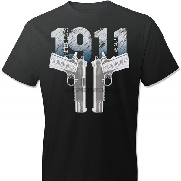 1911 Colt Handgun Pro Gun 2Nd Amendment 100% Cotton Men T-Shirt T Shirt Fashion 2019 Brand Design T-Shirts Casual Tees