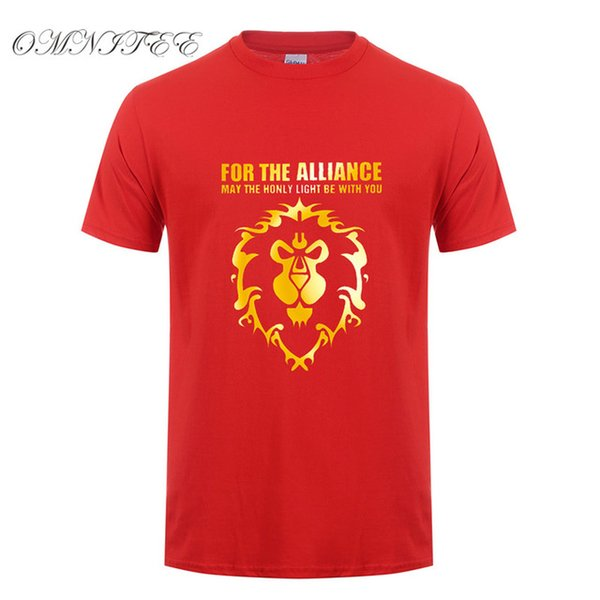 2019 mens designer t shirts New Summer Cool Game WOW T Shirt Men's DOTA T Shirt Fashion For The Alliance Men T-shirt