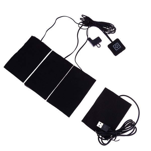 1 Set USB Electric Heating Pads for DIY Heated Clothing Thermal Outdoor Clothes Heated Jacket Vests Mobile Warming Gear